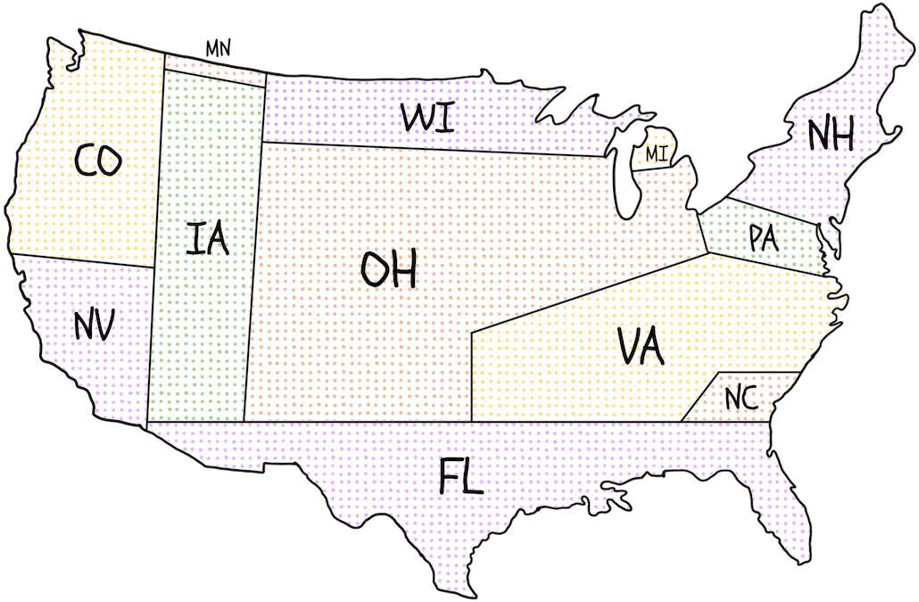 Agreement Among The States To Elect The President By National - Us-map-popular-vote-2016
